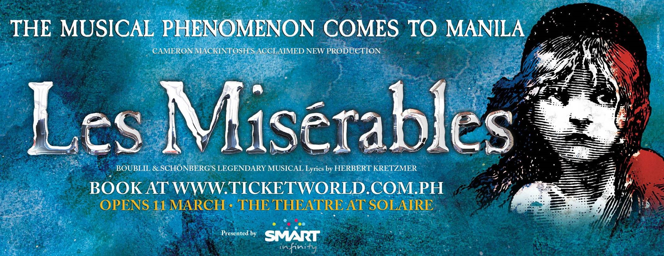 LES MISÉRABLES CONFIRMED TO OPEN IN MANILA IN MARCH 2016